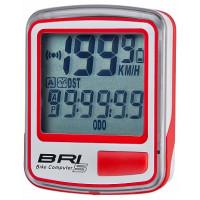 Велокомпьютер BRI-5 5 функций, бело-красный