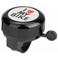 "Звонок 45AE-05 ""I love my bike"" алюминий/пластик, чёрный"