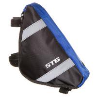 Велосумка STG мод. 12490 размер. M под раму,треугольная ,черная/серая