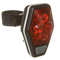 Фонарь STG задний TL5437, 4 красных диода по 0,5 ватт, с линзами, прорезиненная кнопка